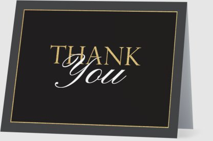 thank you card handwritten handwriting weddings business personal touch